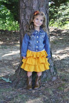 Ruffle skirt tutorial #grownupslikerufflestoo Toddler Ruffle Skirt Tutorial, Ruffl Skirt, Fashion Ruffl, Ruffled Skirt Tutorial