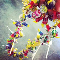 Jolly Rancher, Lemonhead and Blow Pop candy lei