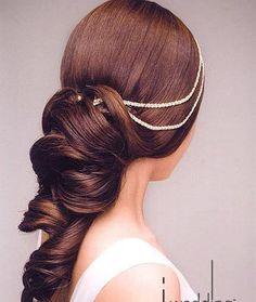 Lovely Princess Style!  More At:  http://fresno-weddings.blogspot.com/2011/09/glamorous-wedding-hairstyles-for-lovely.html