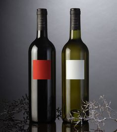 DesignDepot packaging for Carre Rouge & Blanc. Love the simplicity. Why over complicate things? Great work guys. red, white wines, galleri, wine packaging, design archiv, wine labels, carr roug, packag design, creativ packag
