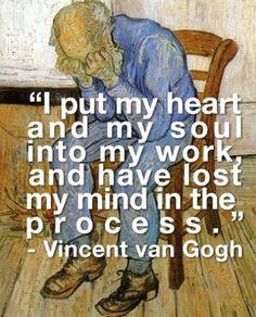 artists, vangogh, heart, vans, quotes, ears, vincent van gogh, feelings, starry nights