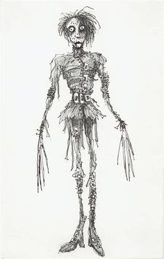 Edward Scissorhands drawing. Wonderful !