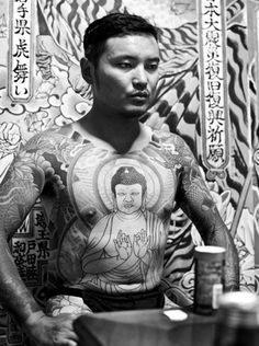Buddha blended with full body tattoo.
