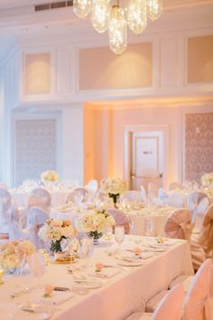 Elegant Peach Pink and Cream Reception Table Decor ideas | photography by erinheartscourt.com/