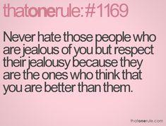 Jealousy...