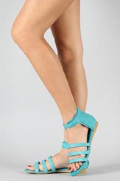 Stingray Strappy Gladiator Flat Sandals