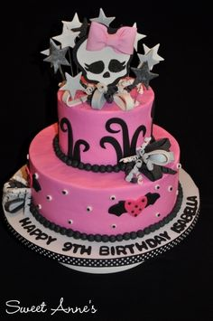 Monster High Birthday By SweetAnne on CakeCentral.com galleries, monster high birthday, bday, happy birthdays, high parti, 5th birthday, monsters, monster high cakes, parti idea