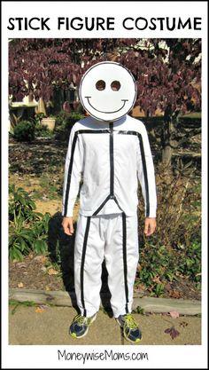 DIY Stick Figure Halloween Costume by MoneyWise Moms