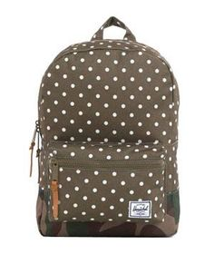 Herschel Settlement Backpack:  This single front pocket pack is equipped with an electronics sleeve and is available in nine color and pattern options