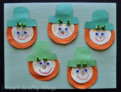 Cupcake Liner Leprechauns! - - pinned by @PediaStaff – Please Visit  ht.ly/63sNt for all our pediatric therapy pins
