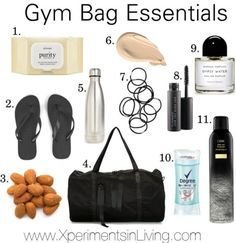 Gym Bag Essentials -