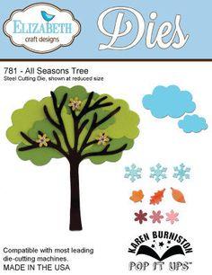 In stock 2/9/14 Elizabeth Craft Designs #781  All Seasons Tree Cutting Die