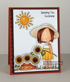 Sunflower Sweetheart stamp set and Die-namics - Michele Boyer #mftstamps