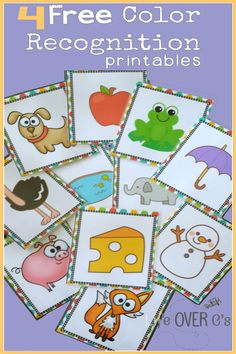 FREE Color Recognition Activity Pack with four activities! We have had so much fun using these!