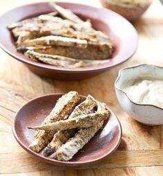 #Recipe: Baked Za'atar Eggplant Fries with Lemon Tahini Dip