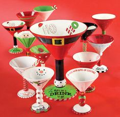 Christmas glasses for an ugly sweater Christmas party