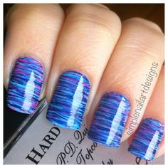 Fan Brush Striped Nails