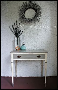 Whimsical Perspective: A Whimsical Re-Makeover: The Foyer Table Edition...Again