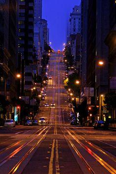 Dusk, California Street, San Francisco