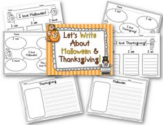 Halloween and Thanksgiving Writing Activity Freebies
