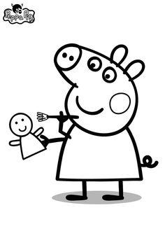 Dibujo para colorear de Peppa Pig (nº 3)