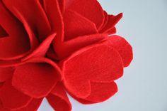Tutorial flores fieltro sin coser