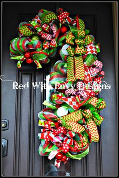 Whimsical Christmas Candy Cane Christmas by RedWithEnvyDesigns, $150.00