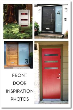 modern front door...