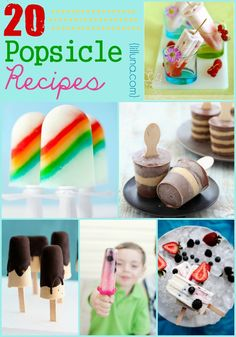 20 Popsicle Recipes - So many delicious way to cool down in the summer heat!! { lilluna.com }