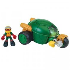 A dual mode vehicle that comes with a Raphael figure.
