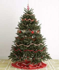 If decorating with garlands you'll need 9 feet of garland for every foot of height on your tree. -  good to know