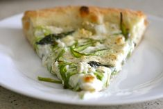 Shaved Asparagus White Pizza