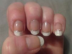 Sparkle french tips