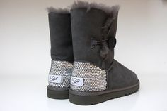 Swarovski Crystal Embellished Bailey Button UGG Boots - Crystal Bling Ugg Boots