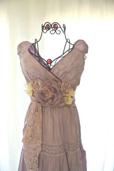 Gypsy Maxi Dress, boho chic sundress, shabby chic ruffle dress, womens summer dress, gypsy cowgirl glam, lilac, Mothers day. $68.00, via Etsy.