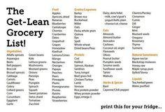 Healthy shopping list!!