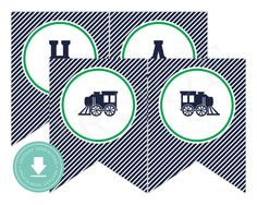 INSTANT DOWNLOAD Train Happy Birthday Banner Train by paigesimple, $7.00