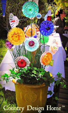 Creative Glass Plate Flower Display