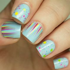 Summertime Waterfall Nails