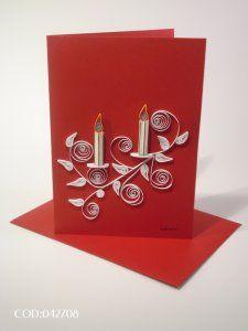 christmas cards, christma card, white candl