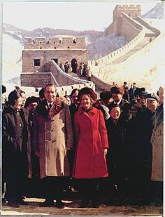President and Mrs.  Nixon visit the Great Wall of China and the Ming Tombs.  2/24/72.
