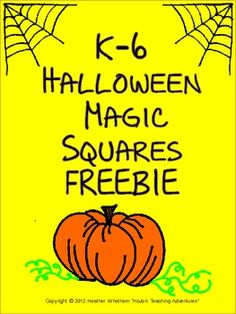 FREE - Let your students have a little Halloween fun with this holiday Magic Square!