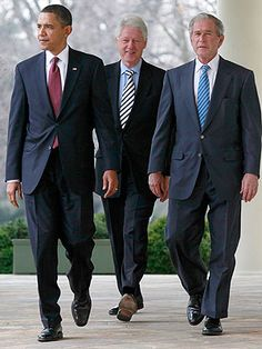Two termers Obama, Clinton and GW Bush
