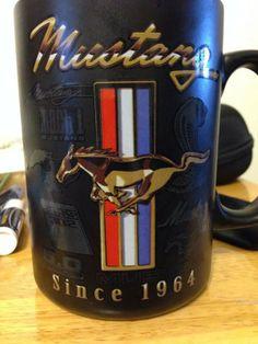 Ford Mustang coffee mug showing Pony
