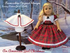 PDF Sewing Pattern / An American Girl Christmas / by Farmcookies, $8.95