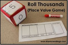 Roll Hundreds Place Value Game