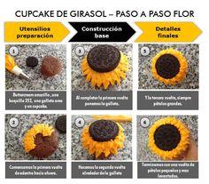 Cupcake Girasol - Paso a Paso