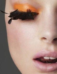 Feather Eyelashes.