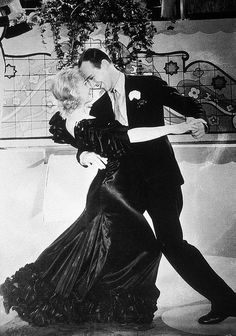 "almost all the dances were filmed in one continuous shot.  Astaire said: ""She got so that after a while everyone else who danced with me looked wrong"".  She was also the perfect height and build for him, unlike some of his later partners."