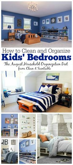 How to Organize Kids' Bedrooms {August HOD}  Free printables and tons of ideas included!